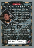 1993-94 Donruss Elite Series Inserts #1 - Mario Lemieux (back)