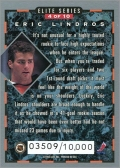 1993-94 Donruss Elite Series Inserts #4 - Eric Lindros (back)