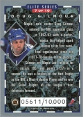 1993-94 Donruss Elite Series Inserts #7 - Doug Gilmour (back)