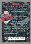 1993-94 Donruss Elite Series Inserts #U1 - Mikael Renberg (back)