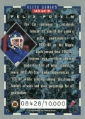 1993-94 Donruss Elite Series Inserts #U3 - Felix Potvin (back)