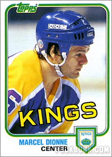 1981-82 Topps #9 - Marcel Dionne