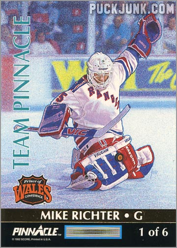 1992-93 Team Pinnacle Mike Richter