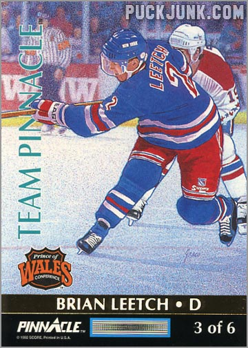 1992-93 Team Pinnacle Brian Leetch