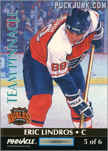 1992-93 Team Pinnacle Eric Lindros