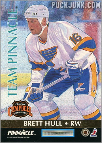 1992-93 Team Pinnacle Brett Hull