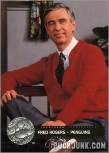 Mr. Rogers Hockey Card