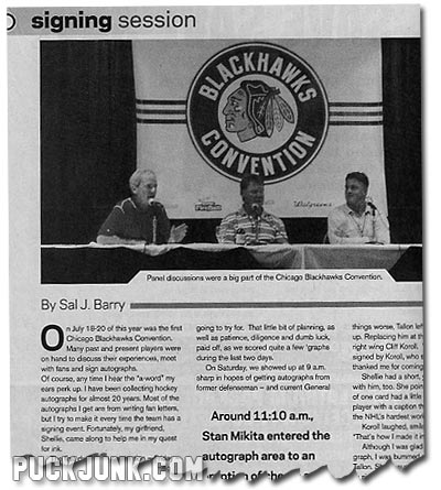 Beckett Hockey #208 - Blackhawks Convention Article