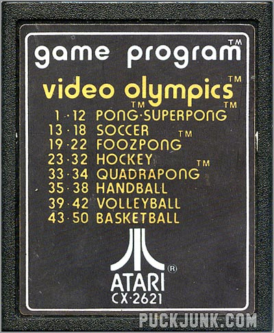 Video Olympics game cartridge 1