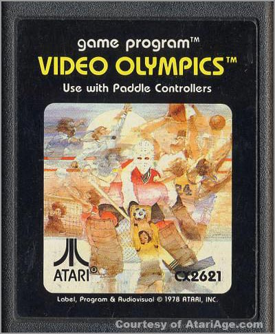 Video Olympics game cartridge version 3