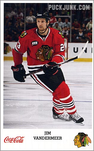 2007-08 Blackhawks Jim Vandermeer