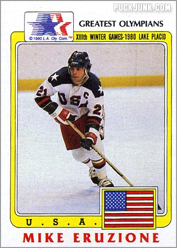1983 Topps Greatest Olympians card #36 - Mike Eruzione