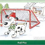 Puck-Stopping Pooch