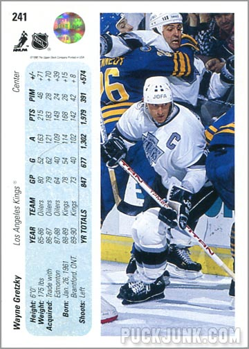1990-91 Upper Deck Gretzky Promo back