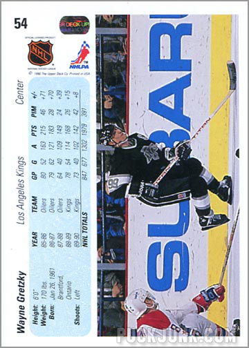 1990-91 Upper Deck Wayne Gretzky regular card back