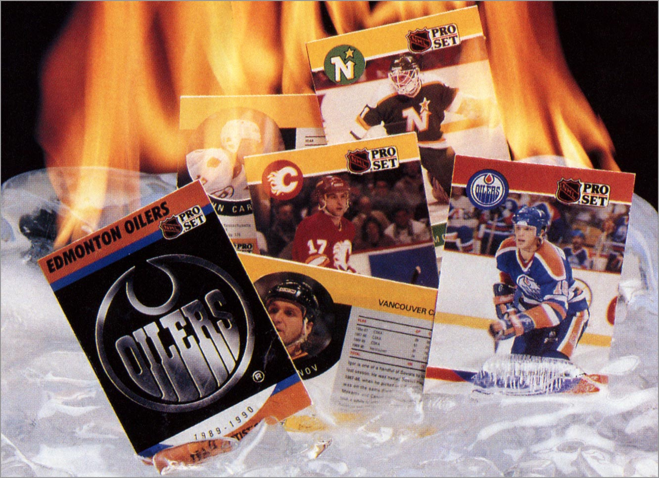 1990-91 Pro Set Hockey Series 2 ad (close up)