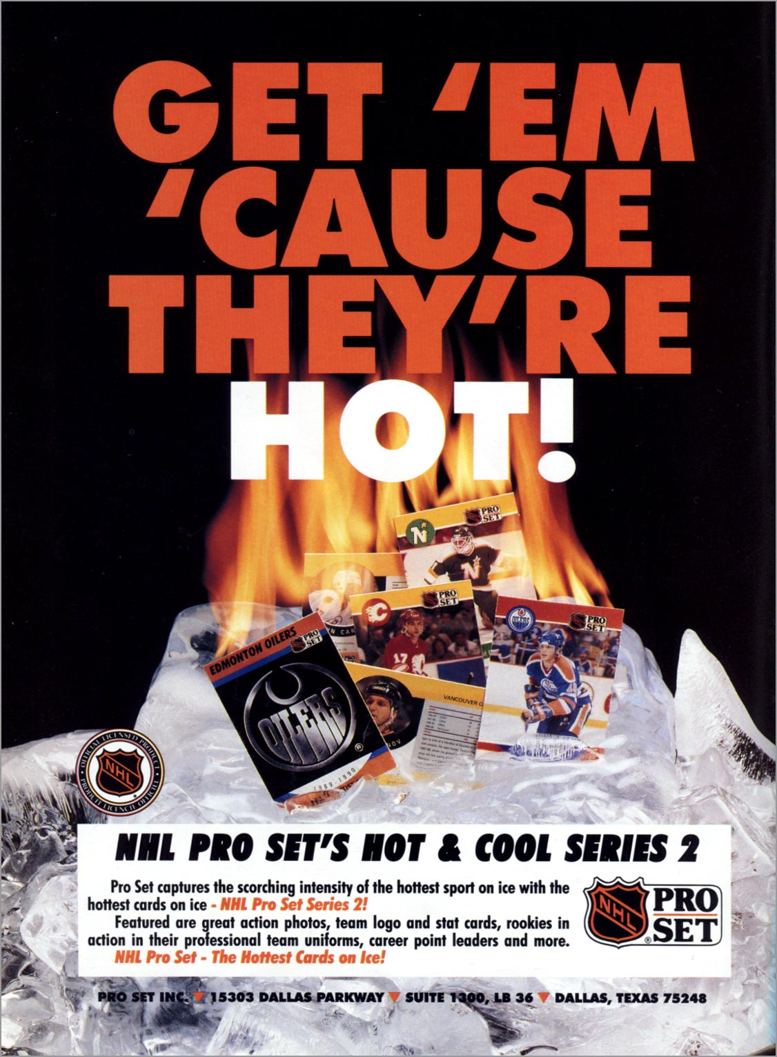 1990-91 Pro Set Hockey Series 2 advertisement