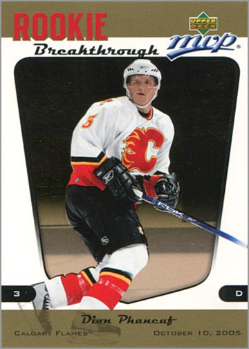 2005-06 MVP Rookie Breakthrough #RB8 - Dion Phaneuf