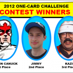 One-Card Challenge & Anniversary Contest Winners Announced