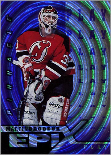 1997-98 Pinnacle Epix Play Purple #E8 - Martin Brodeur