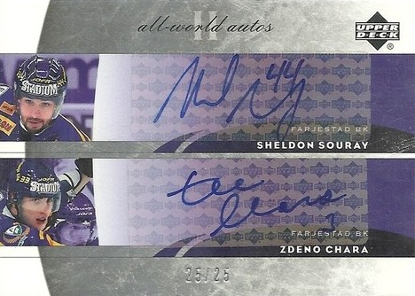 04 UD All-World Dual Autograph #AD-SC Zdeno Chara...Sheldon Souray