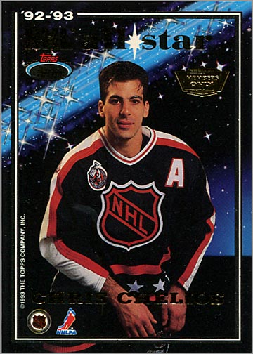 1993-94 Stadium Club All-Stars - Chris Chelios (Members' Only variation)