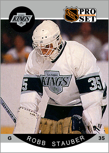1990-91 Pro Set Robb Stauber Custom Card