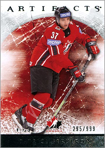 2012-13 Artifacts card #143 - Patrice Bergeron