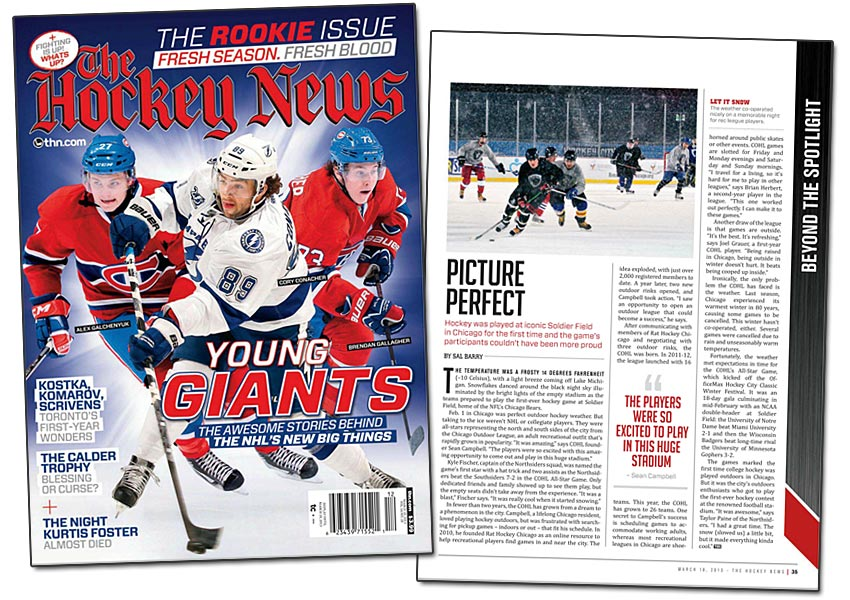 My Outdoor Hockey League article in March 18 issue of The ...