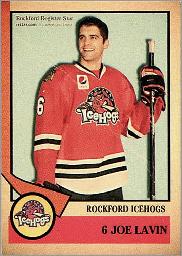2012-13 Rockford IceHogs #6 - Joe Lavin