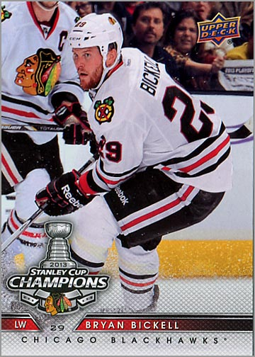2013 Chicago Blackhawks Commemorative Box Set #1 - Bryan Bickell