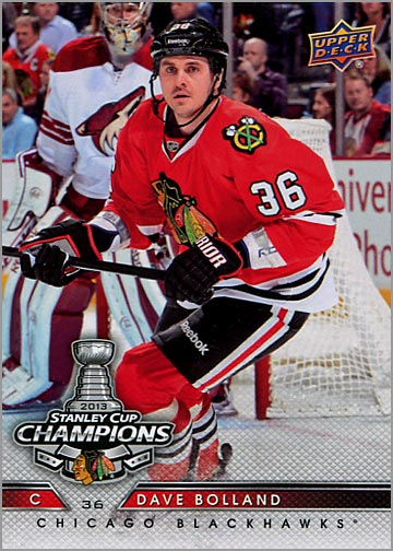 2013 Chicago Blackhawks Commemorative Box Set #2 - Dave Bolland