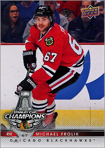 2013 Chicago Blackhawks Commemorative Box Set #8 - Michael Frolik