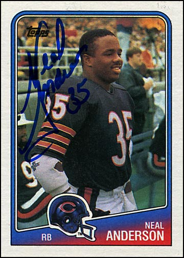 Do not adjust your monitor. This is indeed a football card.
