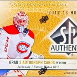 2012-13 SP Authentic Hockey Box Break