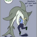 Card 'Toons: Swimming with Sharks