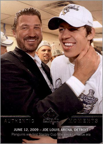 2013-14 SP Authentic #196 - Mario Lemieux & Evgeni Malkin