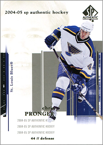 2004-05 SP Authentic #76 - Chris Pronger