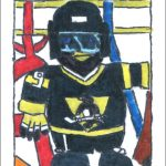 Custom Hockey Card: Irwin the Penguin
