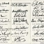 1973-74 L.A. Kings Autograph Sheet